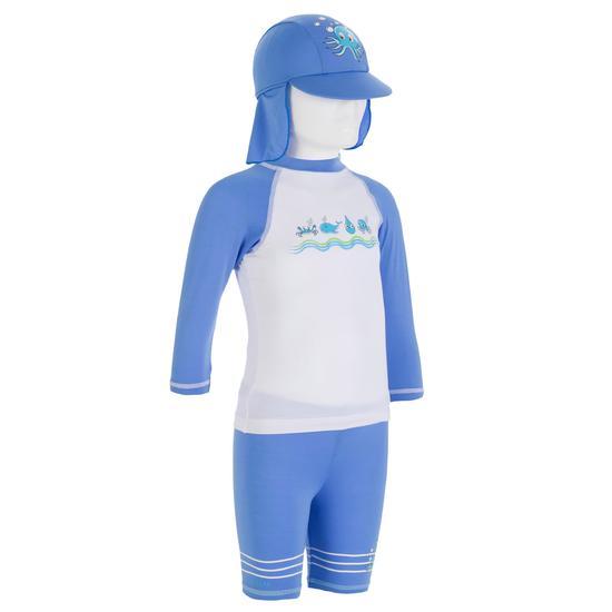 Uv-werende set van pet, kuitbroek en shirt voor peuters Surf - 54595