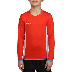 Voetbalshirt met lange mouwen voor kinderen F500 - 54689