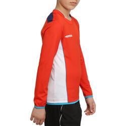 Voetbalshirt met lange mouwen voor kinderen F500 - 54690