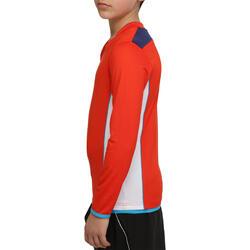 Voetbalshirt met lange mouwen voor kinderen F500 - 54691