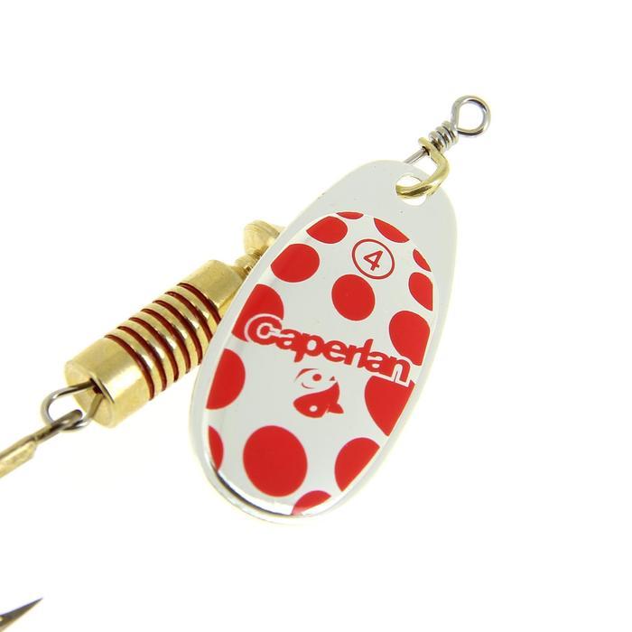Cucharilla de pesca PONGA #4 Dorado/Rojo x 2