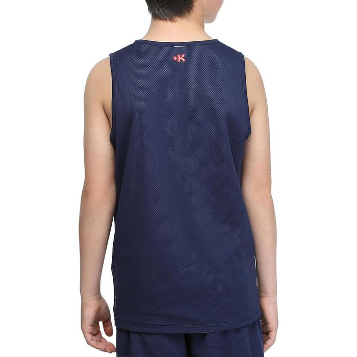 Camiseta de baloncesto para niños Reversible azul marino blanco
