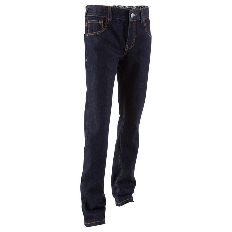 Regular Boys' Skateboarding Jeans - Blue
