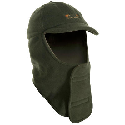 Casquette cagoule chasse 100 vert