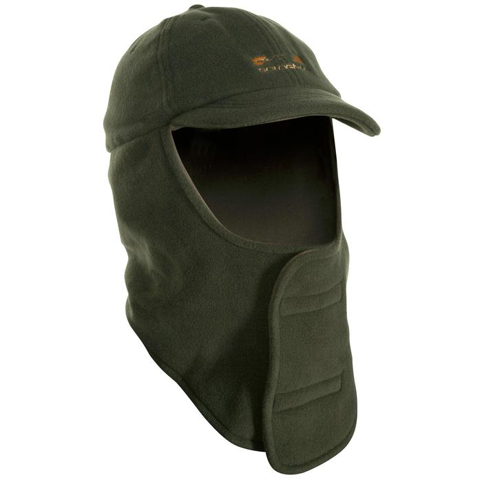 Casquette cagoule chasse 100 vert - 549722