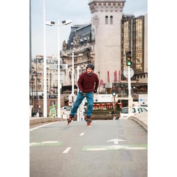 Roller adulte mobilité urbaine SNEAK-IN orange noir - 549757