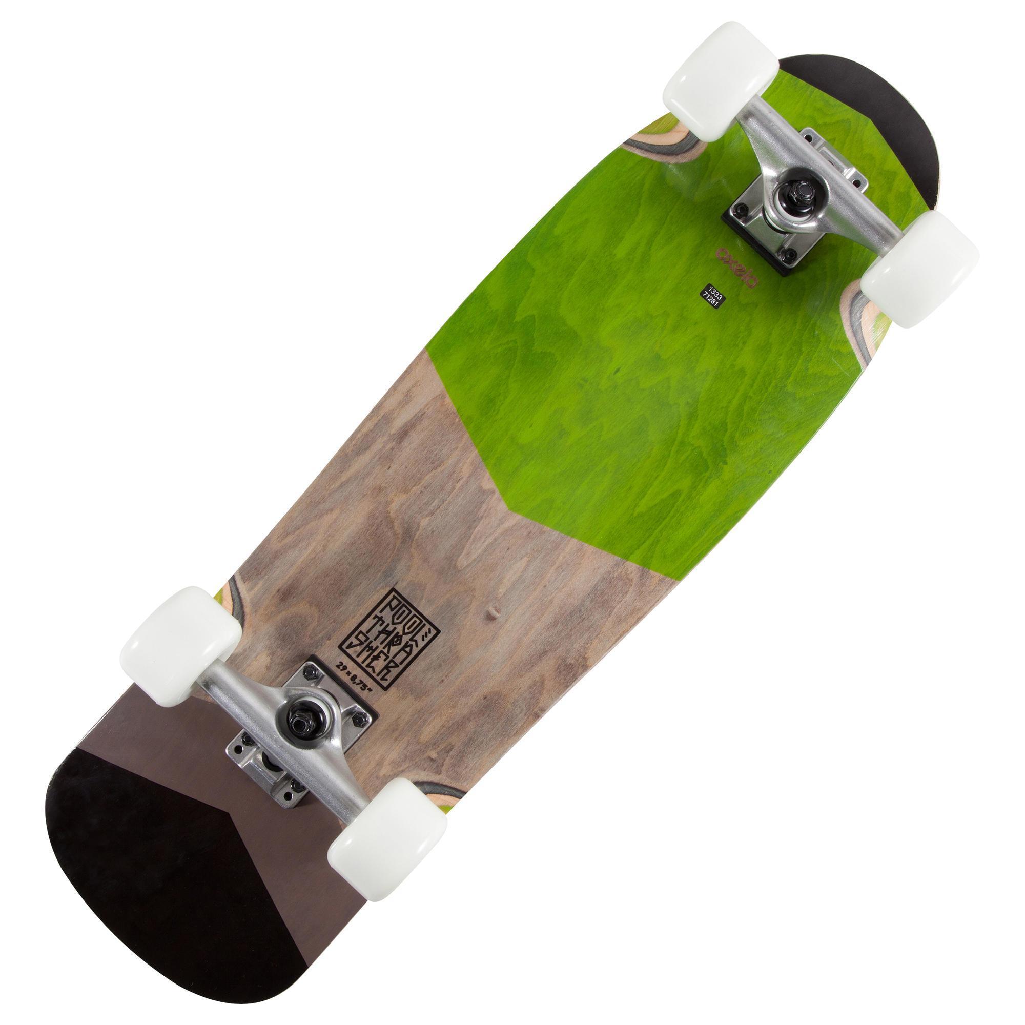 old school cruiser skateboard pool green oxelo. Black Bedroom Furniture Sets. Home Design Ideas
