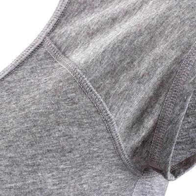 Camiseta de manga corta slim fitness mujer Active gris jaspeado