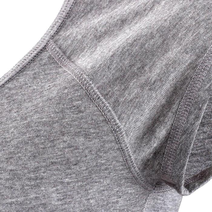 女款修身剪裁皮拉提斯與溫和健身T恤500 - 雜灰色
