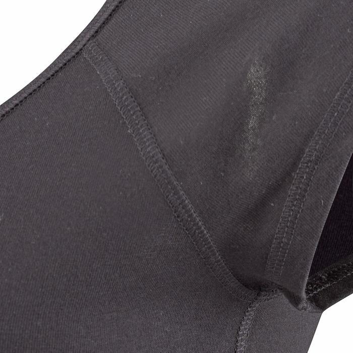 女款修身剪裁伸展運動T恤500 - 黑色