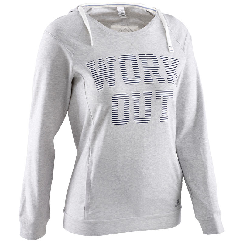 Tee-shirt manches longues gris femme body training
