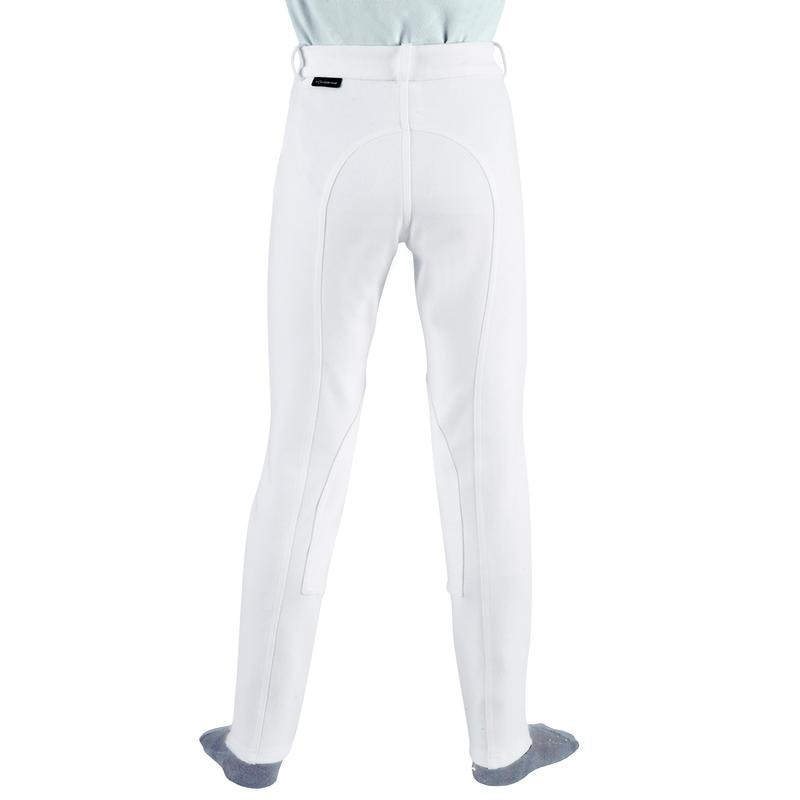 100 Children's Horse Riding Show Jodhpurs - White