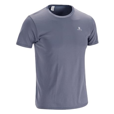 3d4ffb9d0 FTS100 Fitness Cardio T-Shirt - Grey | Domyos by Decathlon