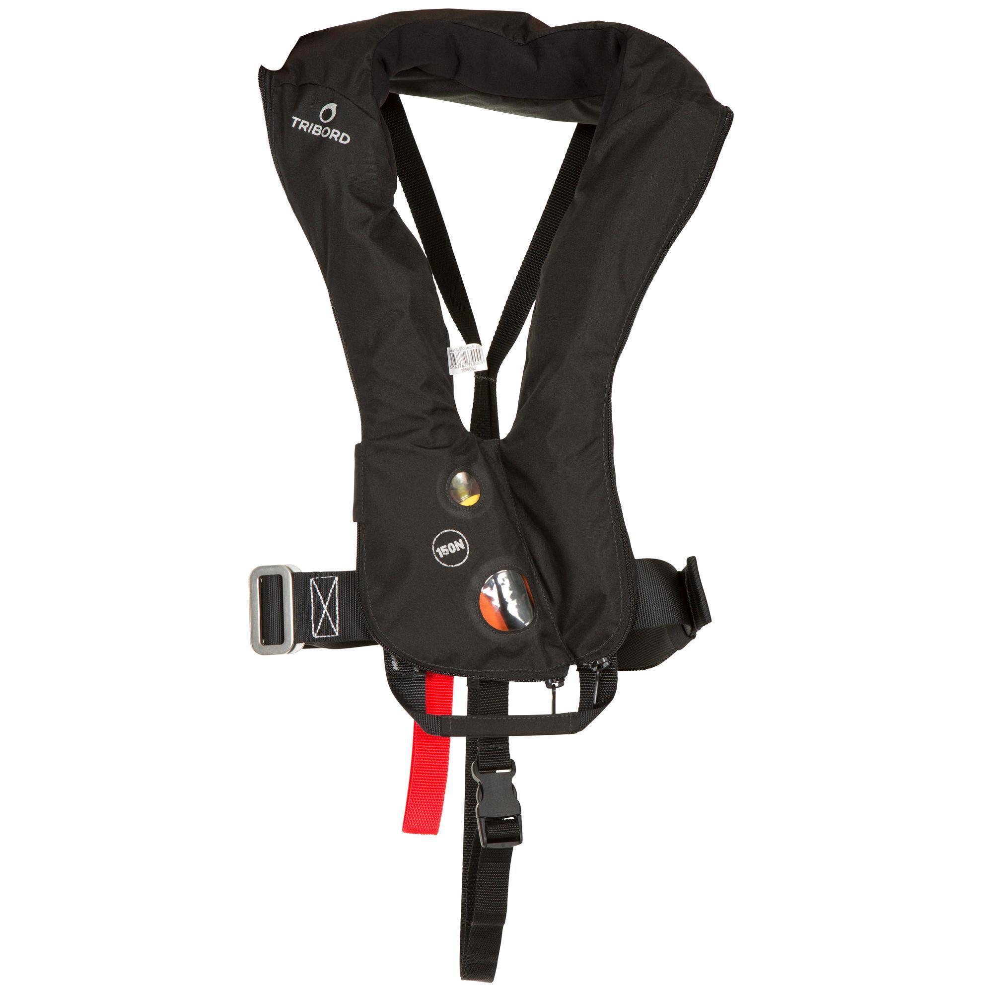 Rettungsweste LJ 150 N Air mit Gurtsystem Erwachsene | Sportbekleidung > Sportwesten > Funktionswesten | Schwarz | Co | Tribord