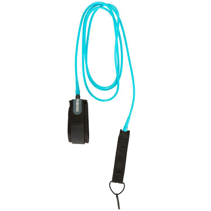 Leash surf longboard 9'8' (300 cm), blue