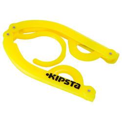 Opvouwbare kleerhanger geel - 556317