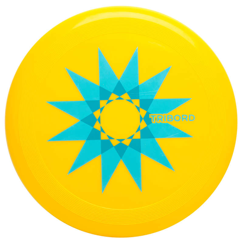 FLYING DISCS / BOOMERANG Frisbees and Boomerangs - Disque volant D90 Star Jaune OLAIAN - Sports