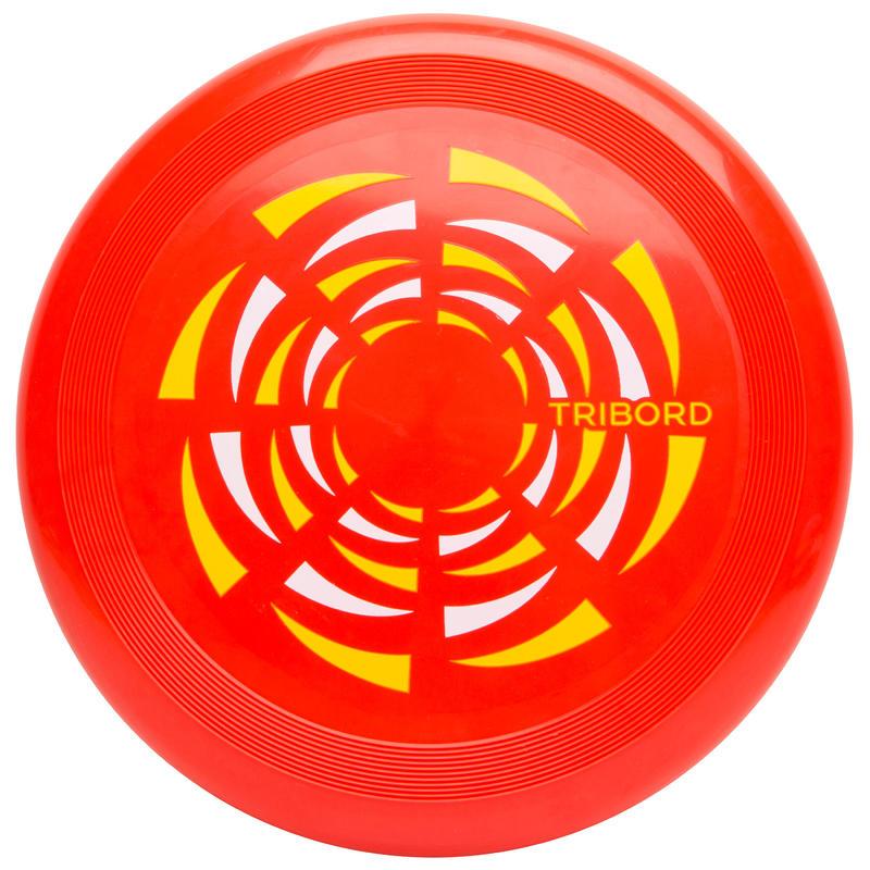 จานร่อนรุ่น D90 (สีแดงลายลมหมุน)