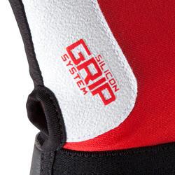Rugby handschoenen zonder vingers Full H zwart/rood - 556717