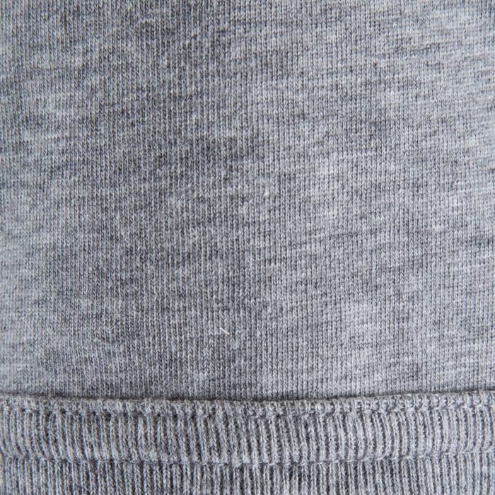 T-shirt korte mouwen trekking heren TechTil 100 gemêleerd grijs