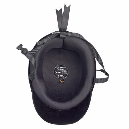 خوذة ركوب خيل من القطيفة مقاس من 52 إلى 59 سم FOUGANZA - لون أسود