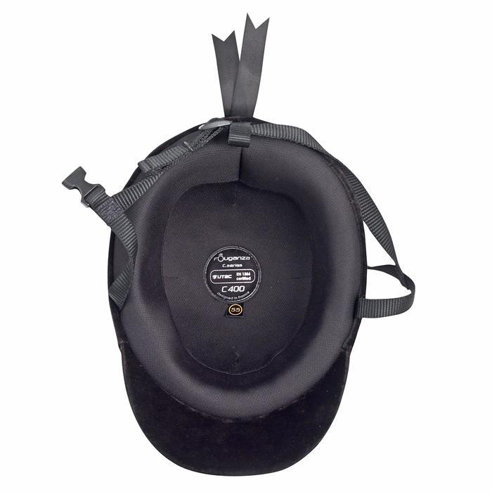 Bombe équitation C400 velour noir (tailles 52 à 59 cm) - 557721
