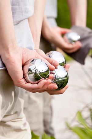3 Recreational Grooved Petanque Balls
