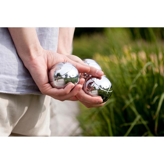3 gladde petanqueballen voor vrijetijdsgebruik