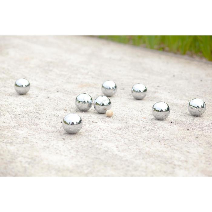 3 gegroefde petanqueballen voor vrijetijdsgebruik