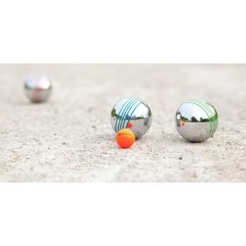 Boulekugeln Discovery 100 Set Freizeit 8 Kugeln mit farbiger Riffelung
