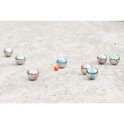 Jeu de boules set 8 gekleurde petanqueballen voor vrijetijdsgebruik