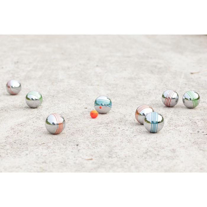 Set van 8 gekleurde petanqueballen voor vrijetijdsgebruik