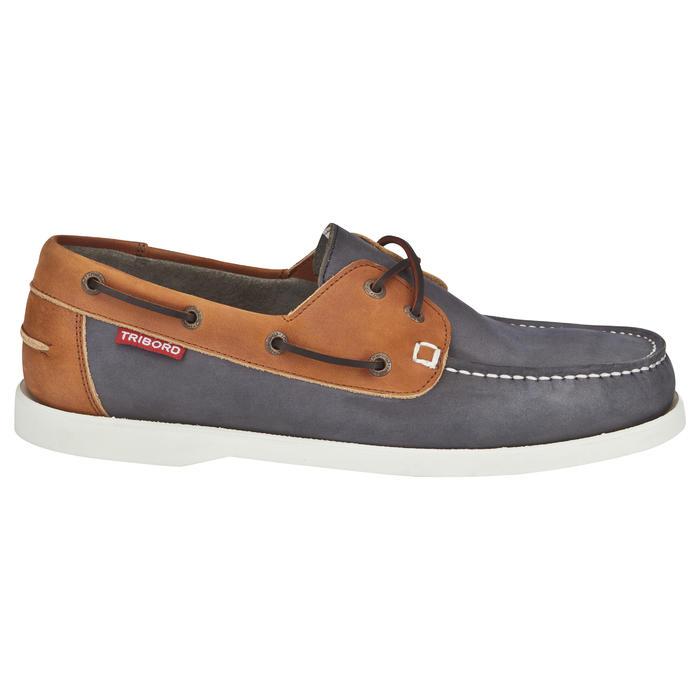 4237871cc988 Chaussures bateau cuir homme CR500 bleu marron