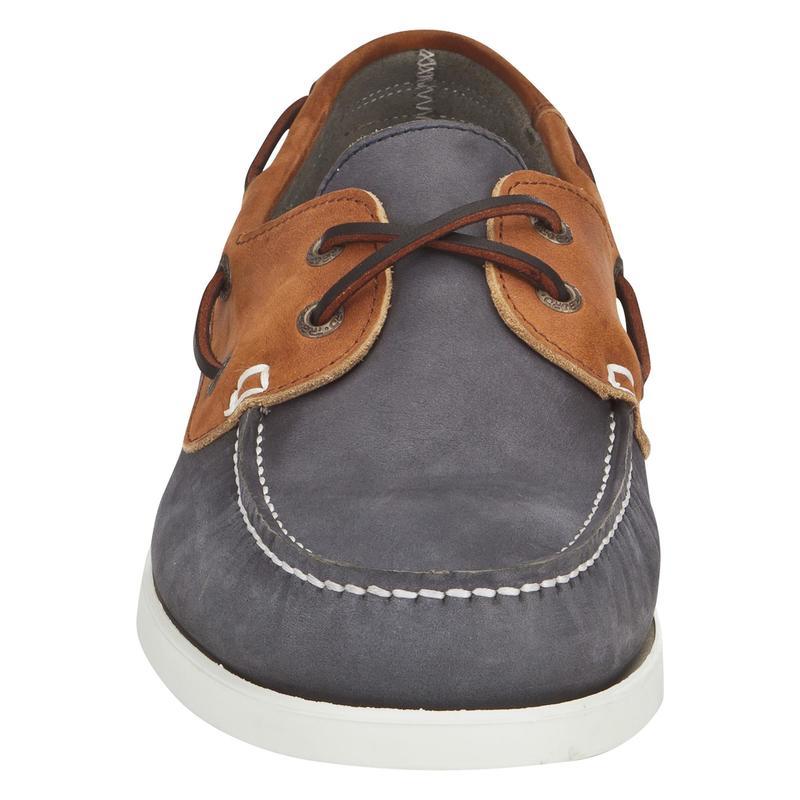 magasin d'usine 3f95c 09e6f - Chaussures bateau cuir homme CR500 bleu/marron
