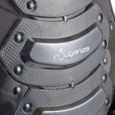 واقى آمان للظهر يُستخدم أثناء ركوب الخيل للكبار والأطفال - أسود