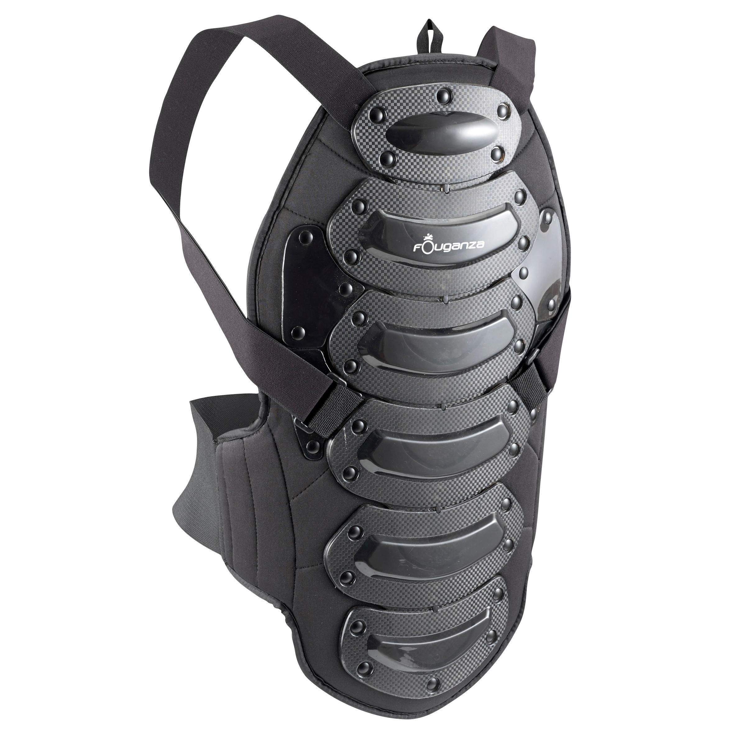 Fouganza Rugbeschermer Safety voor kinderen en volwassenen, ruitersport, zwart thumbnail