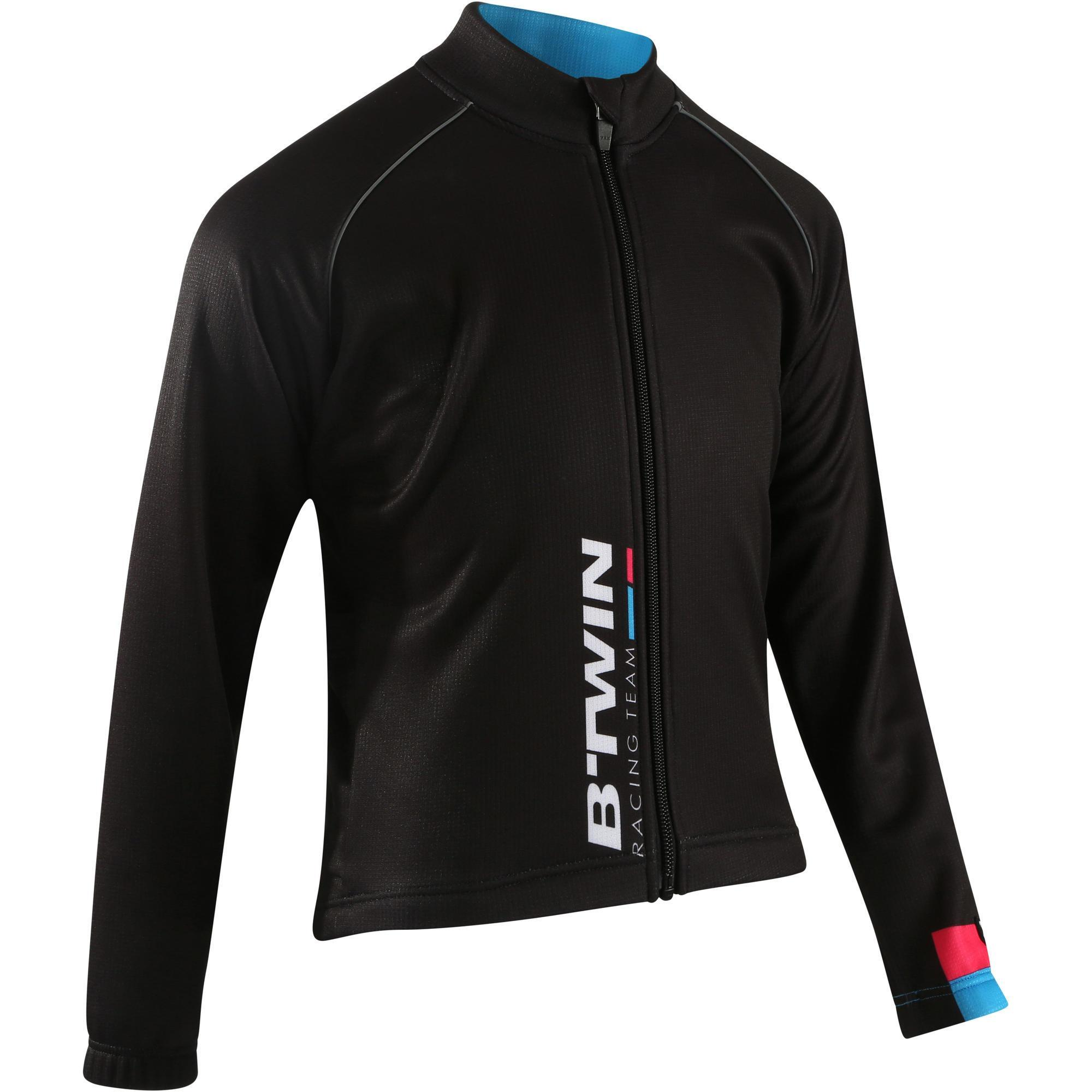 Fahrradjacke 500 Kinder schwarz | Sportbekleidung > Sportjacken > Fahrradjacken | B´twin