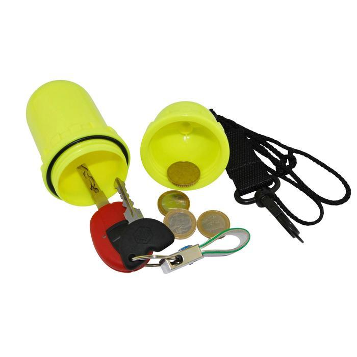 Waterdichte koker in eivorm medium geel - 560055