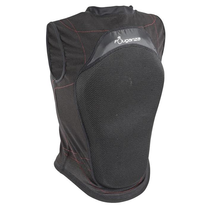 Protection dorsale souple équitation enfant et adulte noir - 560271