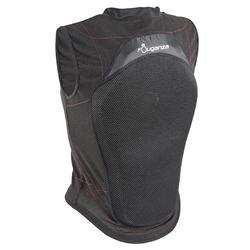 Soepele rugbeschermer voor volwassenen en kinderen ruitersport zwart