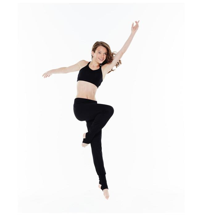 Sujetador-top de danza de tirantes finos cruzados en la espalda niña negro