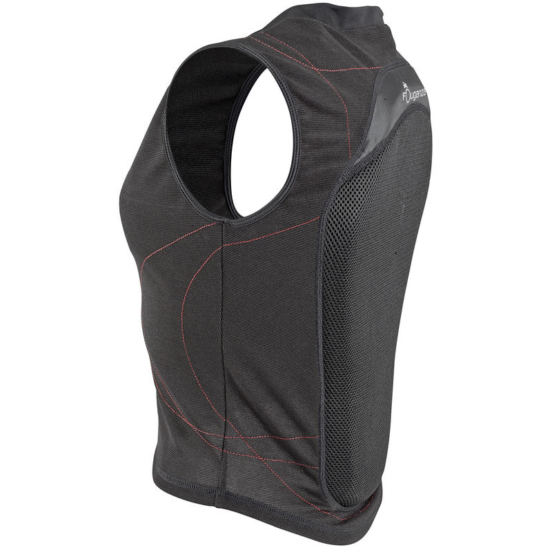 Flexible Adult and Kids' Horse Riding Back Protector - Black
