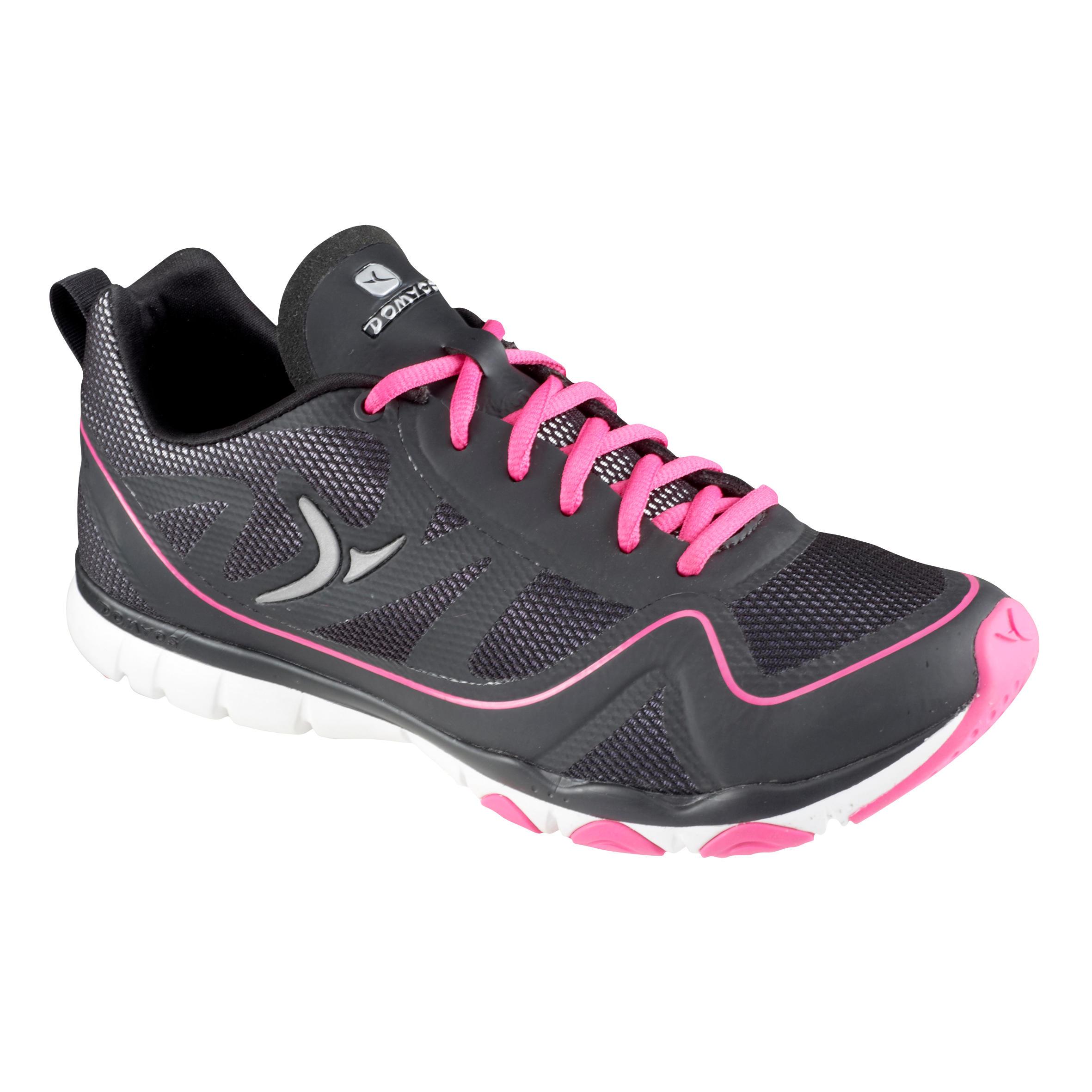 Tenis fitness dama 360+ negro rosa