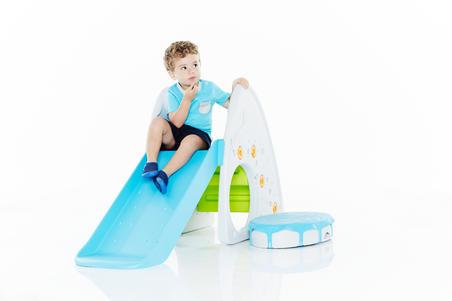 100 מכנסי ספורט קצרים לתינוקות - כחול נייבי