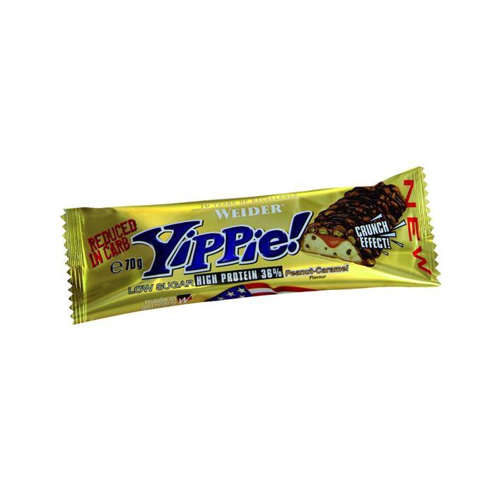 Barrita de proteínas YIPPIE caramelo cacahuete 3x70 g