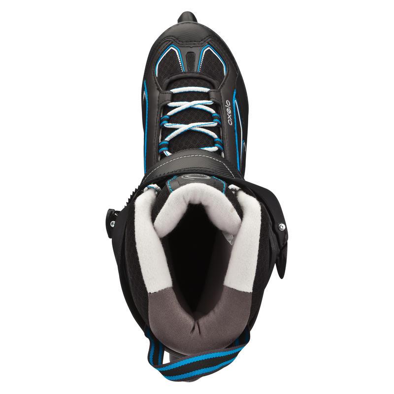 Roller fitness homme FIT 5 noir bleu