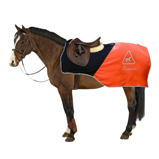Uitrijdeken ruitersport oranje en zwart - 567197
