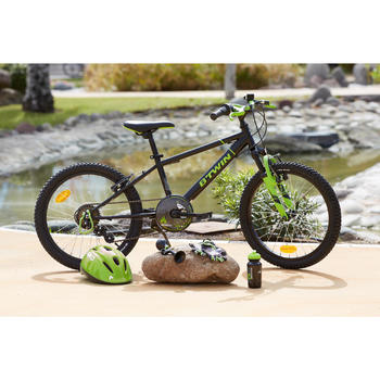 "Mountainbike 20"" Racing Boy 500 Kinder schwarz/grün"