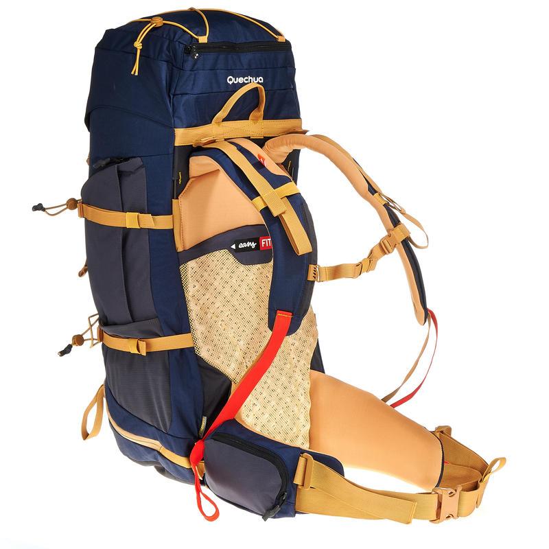 Mochila Trekking EasyFit hombre 50 litros azul