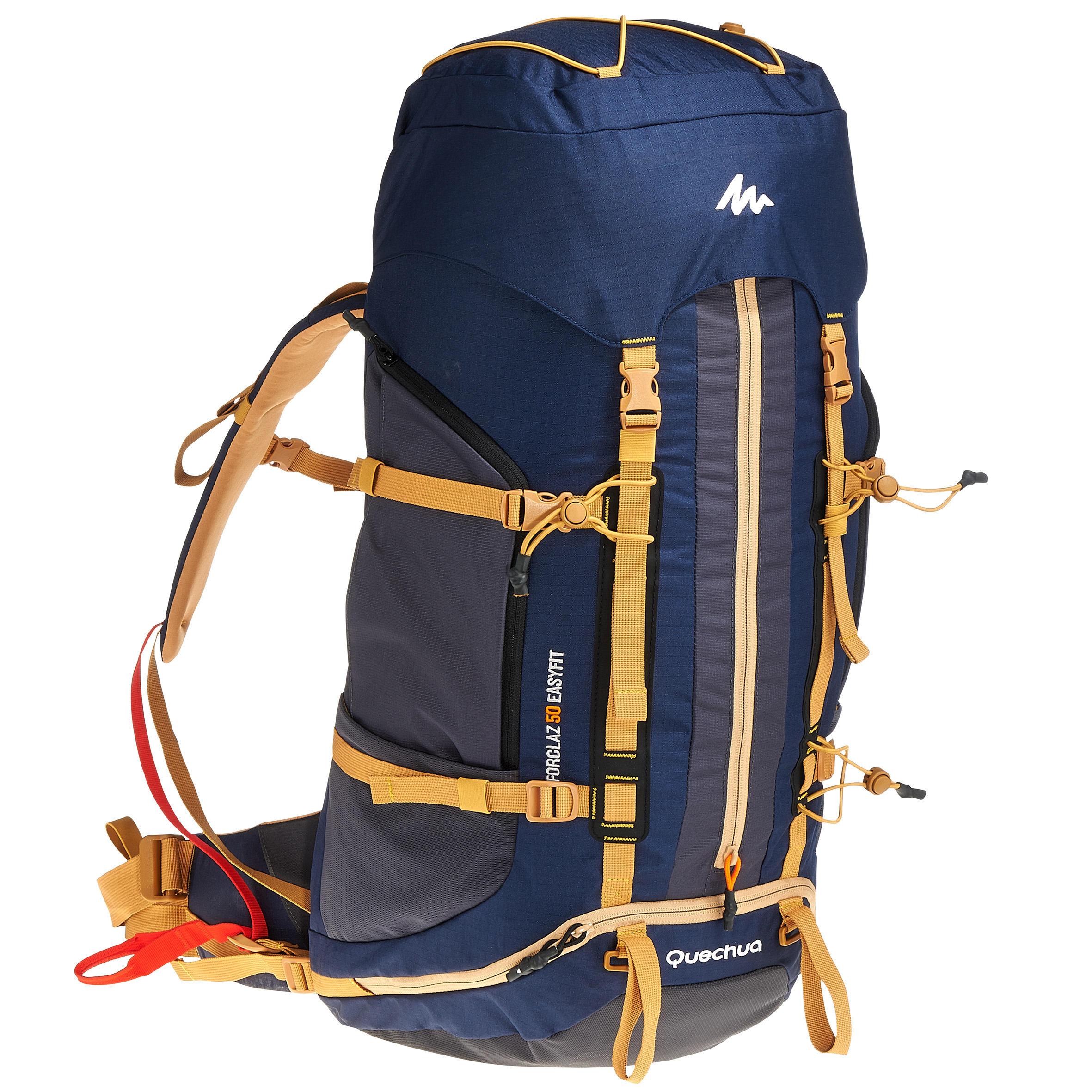 Sac à dos de randonnée sur plusieurs jours Easyfit homme 50 litres bleu